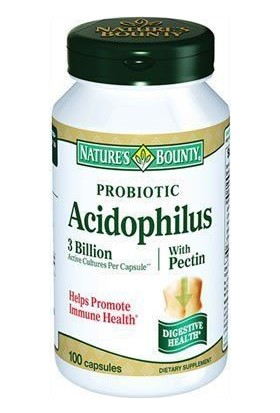 Natures Bounty Probiotic Acidophilus with Pectin 100 Kapsül