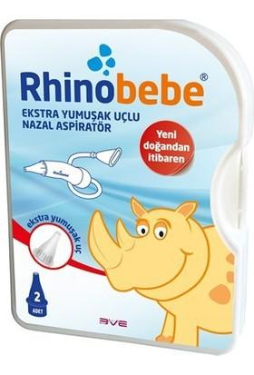 Rhino Bebe Ekstra Yumuşak Nazal Aspiratör 2 Adet Yedek Uç Hediyeli