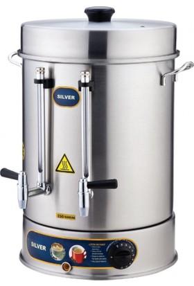İkram Dünyası Işıkgaz Metal Çevirmeli Musluk Çay Makinaları 160 Bardaklık