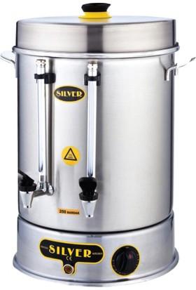 İkram Dünyası Işıkgaz Metal Basmalı Çay Makinası 400 Bardaklık