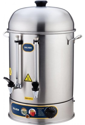 İkram Dünyası Işıkgaz Metal Musluk İkazlı Çay Makinası 400 Bardaklık