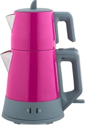 Arnica Demli Stil Çay Makinesi Fuşya