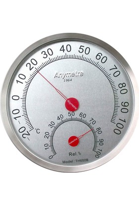 Anymetre Th600B Termometre Nem Ölçer Higrometre