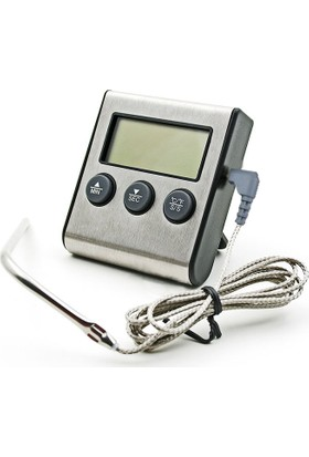 Bnj-24 Dijital Alarmlı Saplamalı Termometre Zamanlayıcı