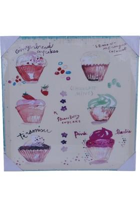 Onino Cupcake Desenli Kanvas Tablo