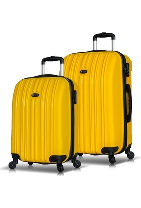 My Valice Line 2'Li Valiz Seti (Kabin Ve Orta) Sarı