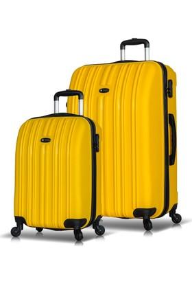 My Valice Line 2'Li Valiz Seti (Kabin Ve Büyük) Sarı