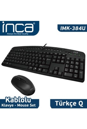 Inca IMK-384U Wıred Multimedia  Q Klavye & Mouse Set
