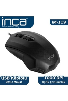 Inca IM-119 Usb Optik Siyah Mouse