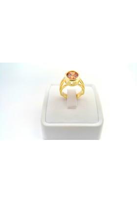 Adorno Özel Tasarım Topaz Rengi Zirkon Taşlı Yüzük Yz06085