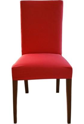 Likralı Esnek Scuba Kumaş Sandalye Kılıfı-Kırmızı