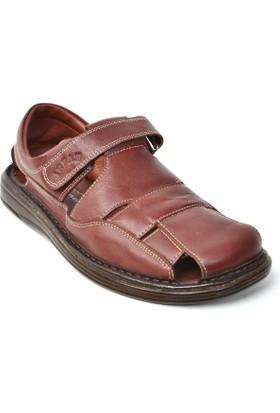 İrfan MR 261 Hakiki Deri Ortopedik Erkek Sandalet