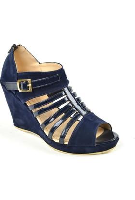 Kaplan ZN 133 Dolgu Topuk Bayan Sandalet Ayakkabı