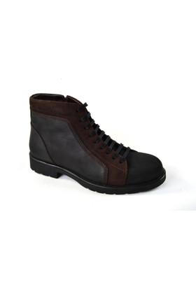 Fearful MR 056 Yaglı Deri İçi Kürk Erkek Bot Ayakkabı