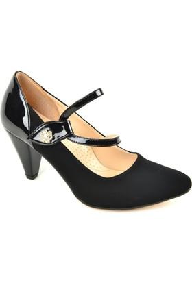 Kaplan ZN Süet Atkılı Bayan Stiletto Ayakkabı