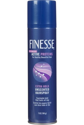 Finesse Extra Hold Hairspray Active Proteins 7 oz (198 ml) Saç Spreyi Made in USA