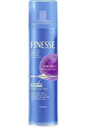 Finesse Finish + Strengthen, Extra Hold Hairspray 7 oz (198 ml) Saç Spreyi Made in USA