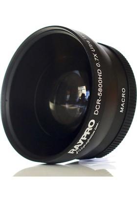 Raypro DCR-5800HD 58mm 0.70x Ultra Geniş Açı + Makro Lens