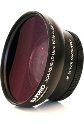Raypro DCR-6200HD 62mm 0.70x Ultra Geniş Açı + Makro Lens