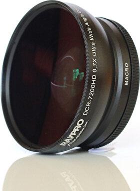 Raypro DCR-7200HD 72mm 0.70x Ultra Geniş Açı + Makro Lens