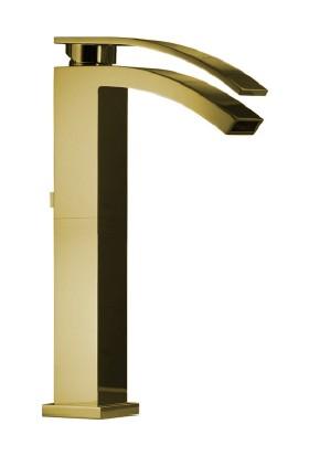 Porcelanosa-Noken Imagıne Çanak Lavabo Bataryası - Altın Renk