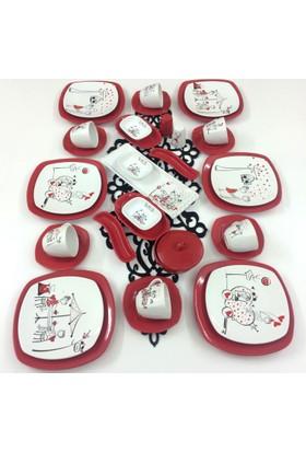Keramika Peri Masalı Aşk 36 Parça 6 Kişilik Kahvaltı Takımı