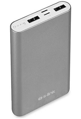 S-link IP-G11 IRON 10000mAh Powerbank Gri Taşınabilir Pil Şarj Cihazı