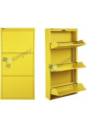 Metal Ayakkabılık Kanguru 3 Lü Gold Sarı 1018