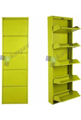 Metal Ayakkabılık Kanguru 5 Li Gold Yeşil 6600