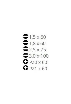 Narex 862652 Micro Line Elektronikçi Klemens Tornavida Takımı 6 Parça