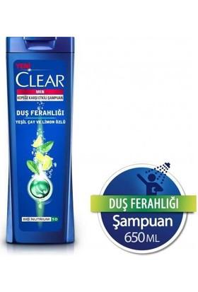 Clear Men Duş Ferahlığı Yeşil Çay Ve Limon Özlü Şampuan 650Ml