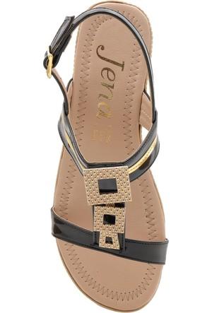 Jena Angel Siyah Taşlı Diamond Sandalet