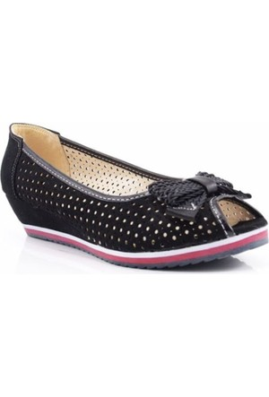 Swell Soft Siyah Dolgu Kadın Ayakkabı