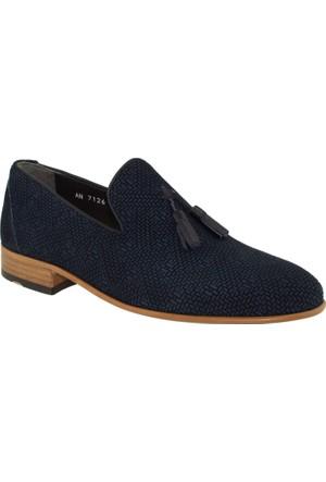 Fosco 7126 Mokasen Klasik Lacivert Erkek Ayakkabı
