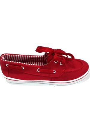 Hot Chocolate Kırmızı Bayan Keten Ayakkabı