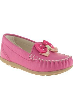 Pink Step Punto Fiyonklu Pembe Çocuk Ayakkabı