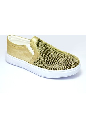 Vans B310-A Lastikli Altın Rengi Kız Çocuk Ayakkabı