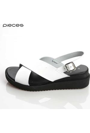 Pieces Kadın Sandalet Beyaz 17073403