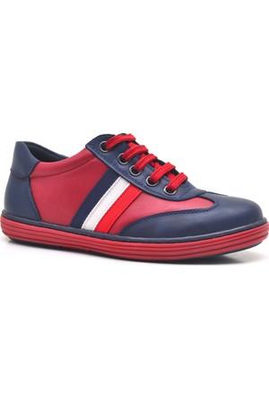 Olgars Fermuarlı Lacivert Kırmızı Erkek Çocuk Spor Ayakkabı