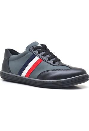 Olgars Fermuarlı Siyah Gri Erkek Çocuk Spor Ayakkabı