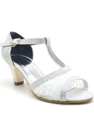 Sarıkaya Abiye Sedefli Kız Çocuk Topuklu Ayakkabı