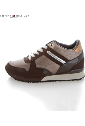 Tommy Hilfiger Fw56821999 212 Thf Sneakers S1285Ady 13C2 Low Cut Coffeebean Bronze Ayakkabı