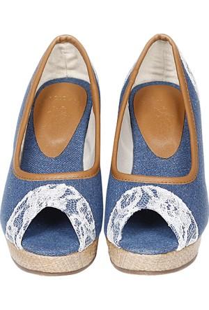 U.S. Polo Assn. Kadın Dolgu Topuk Ayakkabı