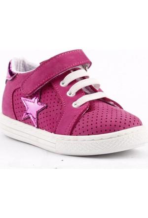 Teo Bebe 3100 %100 Deri Ortopedik Cırtlı Kız Çocuk Ayakkabı