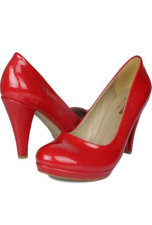 Loggalin 580401 031 559 Kadın Kırmızı Rugan Platform Ayakkabı