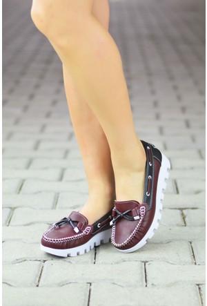 Peri Kızı Loafer Ayakkabı Bordo