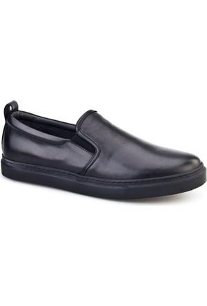 Cabani Erkek Sneakers Günlük Erkek Ayakkabı Siyah Analin Deri
