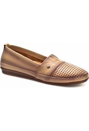 Cabani Lazerli Günlük Kadın Ayakkabı Bej