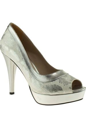 Ali Solmaz 3093 Topuklu Gri Kadın Abiye Ayakkabı