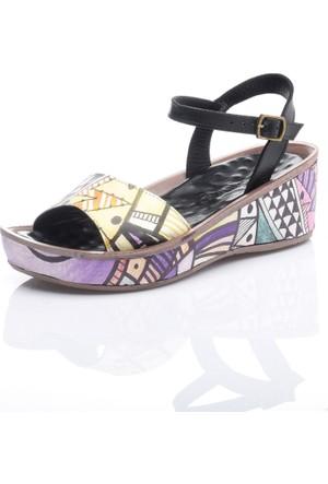 Camore Siyah Digital Sandalet